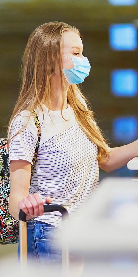Uso de máscaras em aviões e aeroportos