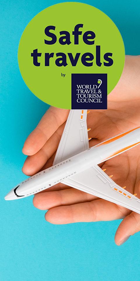 250 destinos em todo o mundo já tem o selo safe travels do WTTC