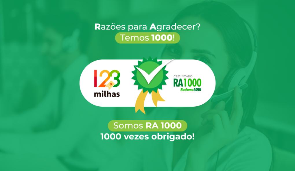123Milhas conquista selo RA1000