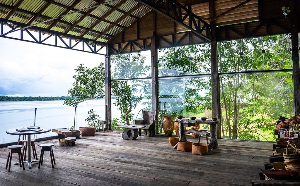 Restaurante no parque nacional anavilhanas