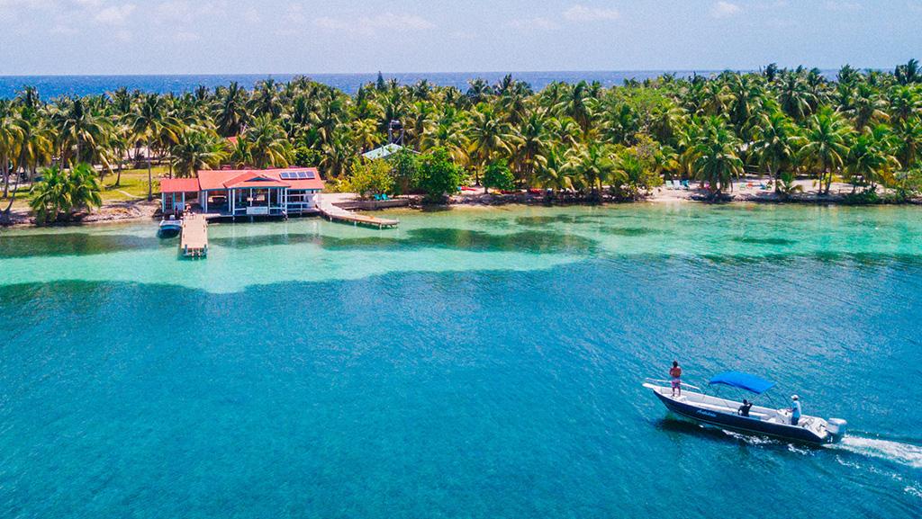 Praia em Belize