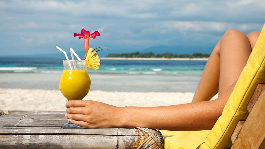 Drink na beira da praia