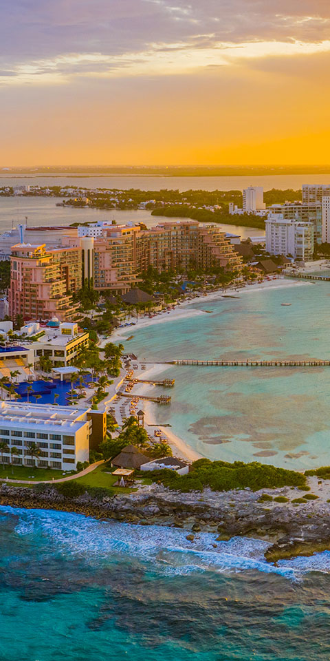 Resorts fantásticos em Cancun